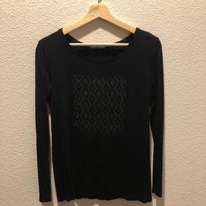 Zara Black Long Sleeve Tshirt
